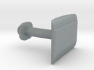 Customizable Cufflink   in Polished Metallic Plastic