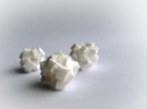 Rock Bead in White Strong & Flexible