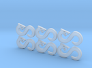 Infinity Snake - 6, 12mm Icons in Frosted Ultra Detail