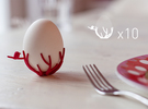 birdsnest-eggcup-reseller-pack in White Strong & Flexible Polished