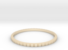 Lined Ring 16.7mm in 14K Gold