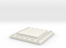 CustomMaker BrickFrame LowProfile 6x6x2 in White Strong & Flexible