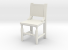 Miniature 1:48 Congressional Chair in White Strong & Flexible
