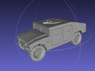 1/144 Humvee Slantback (Single Pack) in White Strong & Flexible Polished