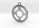 Compass Pendant in Premium Silver