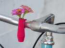 Scalloped Bike Planter in Pink Strong & Flexible Polished