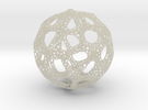 Voronoi Sphere 200mm in Transparent Acrylic