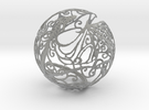 Dragon Sphere Ornament in Metallic Plastic