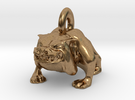 Bulldog Pendant in Raw Brass