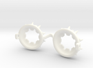 Doll Goggles Custom: SD Size R1 Type in White Strong & Flexible Polished
