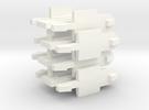 Set of 4 Xerox 6085 / 1186 Floppy Drive Clips in White Strong & Flexible Polished