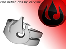 Fire nation ring (med/adjustable) in Metallic Plastic