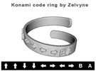 Konami code ring in Metallic Plastic