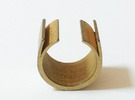 Chalcosoma 1.5cm, 16.8mm in Polished Gold Steel