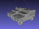1/144 Humvee M1097A2 Shop Equipment Maintenance (D in White Strong & Flexible Polished