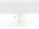 Shapeways Flake 1 in White Strong & Flexible Polished