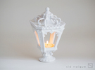 Candle Holder - Classic Lantern 01 - Tealight in Gloss White Porcelain