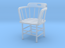 Caboose Chair Doll House 1/24th scale in Frosted Ultra Detail