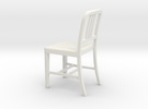 Miniature 1:18 Aluminum 1 Chair (not full size) in White Strong & Flexible
