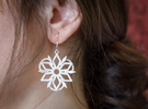Dancing Shards Earrings in White Strong & Flexible Polished