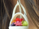 Little earring planter in White Strong & Flexible