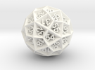 Spin Down D60 in White Strong & Flexible Polished
