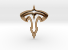 TESLA1000mm Doubleturn in Polished Brass