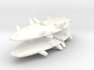 Harasser 1-1000 Flight in White Strong & Flexible Polished
