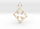 Royal Cross Pendant in 14K Gold