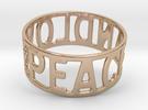 Peaceandlove 70 Bracelet in 14k Rose Gold Plated