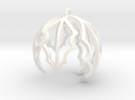 Holly Ornament in White Strong & Flexible Polished