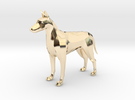 Dog With Tail in 14K Gold