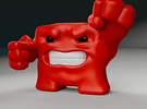 Super Meat Boy in Full Color Sandstone