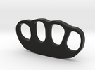 Knuckle Duster Ornament - Custom Text Option in Black Strong & Flexible