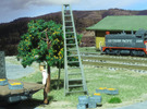 HO Scale, Four 15' Ladders in Frosted Ultra Detail