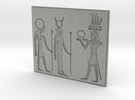 Hieroglyphs bas-relief in Metallic Plastic