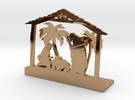 Nativity Scene in Polished Brass