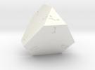 Dreidel D4 in White Strong & Flexible Polished