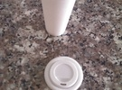BJD Doll Coffee Cup and Lid in White Strong & Flexible Polished