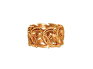 Crown Mesh Ring / Bronze Brass or Silver Ring in Premium Silver