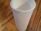 BJD Doll Paper Coffee Cup - Cup Only in White Strong & Flexible Polished