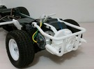 TAMIYA MF01X ENGINE REPLICA AND REAR CAGE  in White Strong & Flexible Polished