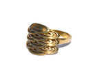 Japanese Fishscales Ring in Polished Brass