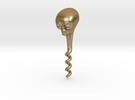 Alien Corkscrew in Polished Gold Steel