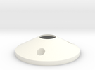 Wheel Cap V2 in White Strong & Flexible Polished