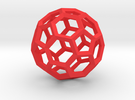 15cm Truncated Icosahedron-Archimedes09-Polyhedron in Red Strong & Flexible Polished