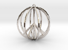 Global Peace Pendant deSign in Rhodium Plated