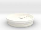 Splash proof Yeti Lid in White Strong & Flexible Polished