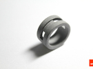 Slider-ring (small) in Metallic Plastic