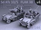 Sd.Kfz 10/5  FLAK 38  (4 pack) in Frosted Ultra Detail